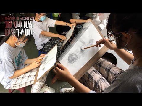 Hướng dẫn Vẽ Tĩnh Vật kết hợp Khối cơ bản thi Đại Học Xây Dựng cho nàng Công Chúa Tóc Mây