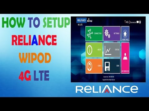 How to Setup Reliance Wi-Pod 4g LTE First Time USE and Fully