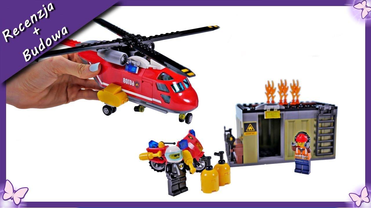 Budowanie Klocków Lego City 60108 Helikopter Strażacki Bajka