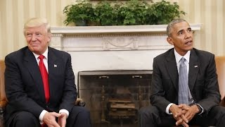 Obama gives Trump advice during first meeting