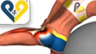 Abdução do quadril na bola suíça , exercicios musculação para gluteos