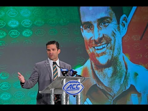 University Of Miami Coach Manny Diaz Talks About Mark Richt, Recruiting In Florida