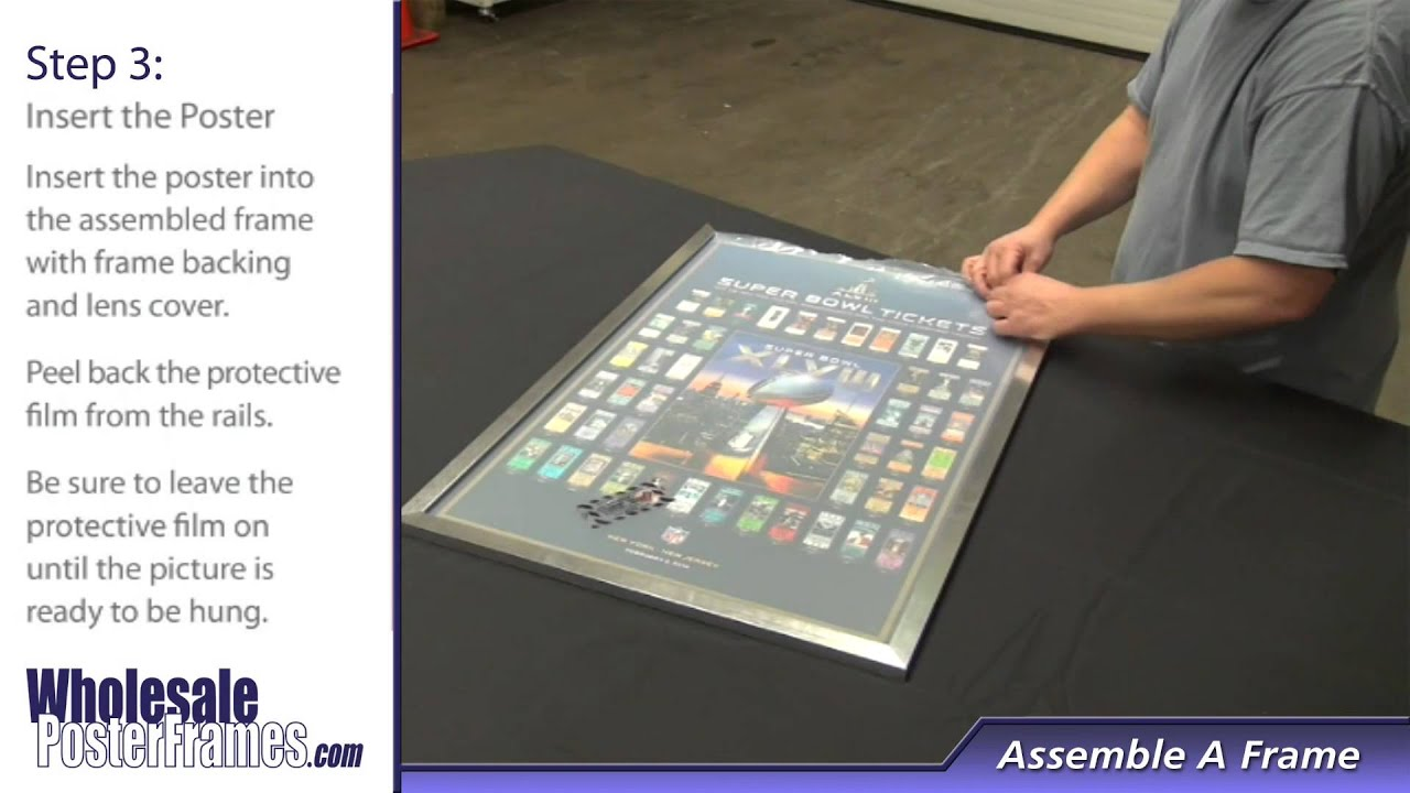 wholesale poster frames frame assembly step by step - Wholesale Poster Frames