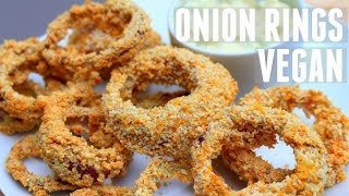 ONION RINGS VEGAN HCLF l SAUCE TARTARE