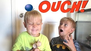 Kids FIRST Time Playing with a KENDAMA! | DYCHES FAM