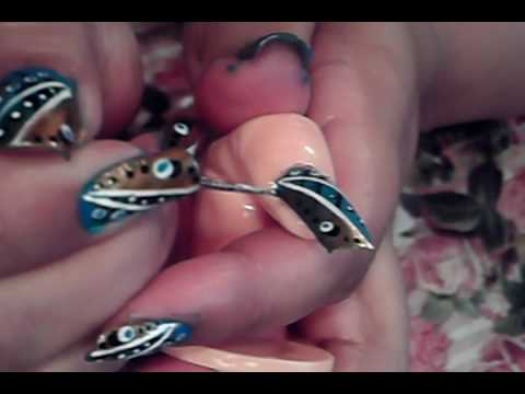 Its friday blue black white gold nail art design youtube blue black white gold nail art design youtube prinsesfo Choice Image
