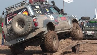 Ленд Крузер против УАЗа  (jeep-trial Land Cruiser vs UAZ)