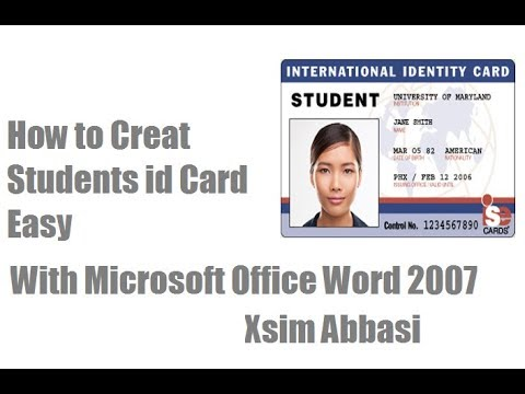 how to creat easy student id card with microsoft office word 2007