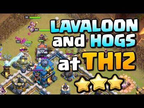 HOGS and LAVALOON at TH12 ⭐ Town Hall 12 Attack Strategy | Clash of Clans