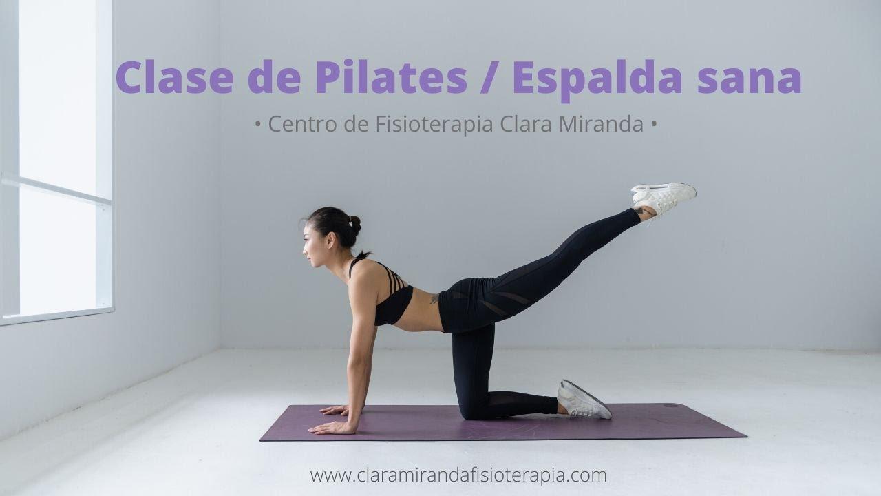 Clase de Pilates suelo en casa