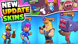 EVERY NEW SKIN IN BRAWL STARS! NEW STAR SHELLY, BULL & BROCK SKIN! GLOBAL UPDATE OVERVIEW!
