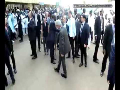 François Hollande à Donka
