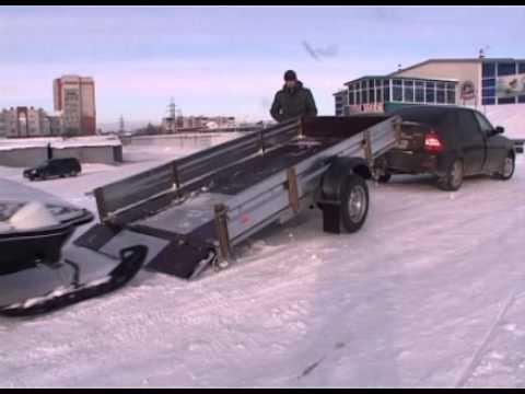 Прицеп для перевозки снегохода КМЗ 8284 51