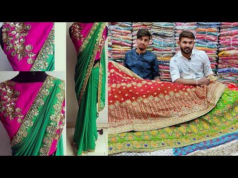 खरिदे  250₹ शादी-party साड़ी। surat saree manufacture, saree wholesale market surat thumbnail
