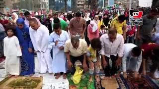 الآلاف يؤدون صلاة عيد الأضحي بمسجد مصطفى محمود وسط أجواء احتفالية