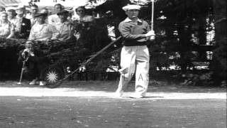 William Ben Hogan wins US Open Championship at Merion Golf Club in Ardmore, Penns...HD Stock Footage