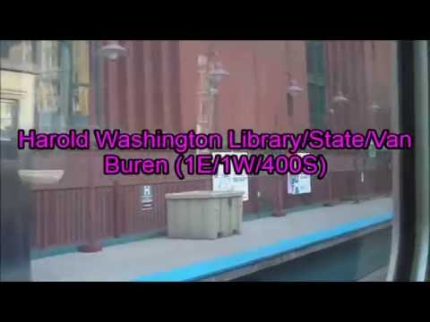 CTA Pink Line train from Cicero Avenue to Washington/Wells station 3 (05-30-16)