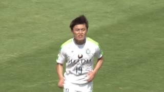 2017年4月29日(土)に行われた明治安田生命J2リーグ 第10節 岡山vs湘...