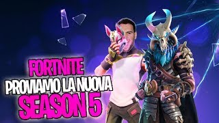Fortnite SEASON 5 LIVE ita PROVIAMO a batalha batalha passe temporada 5
