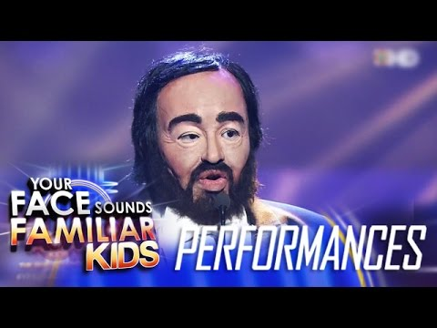 Your Face Sounds Familiar Kids Finale: Elha Nympha as Luciano Pavarotti - La Donna E Mobile