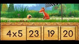 Таблица умножения тест игра для тетей с колобком