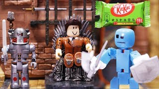 Stikbot Versus Roblox - Battle of the KitKat Candy Bar Stop Motion Animation