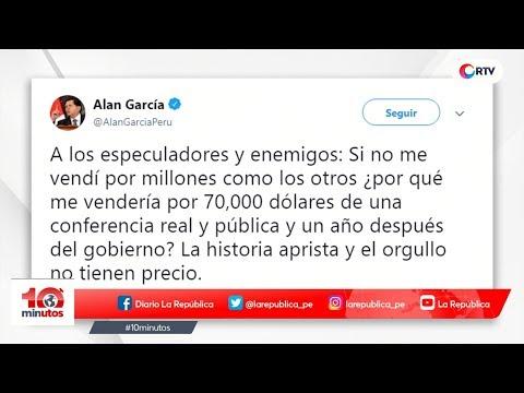 Fiscalía pide a Congreso informe Lava Jato que incluye a García - 10 minutos Edición Tarde