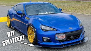 Making an AGGRESSIVE Front Splitter & Canards for the BRZ😍
