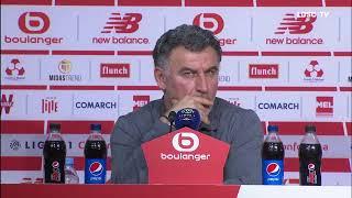 VIDEO: DIRECT : Après la rencontre face à Toulouse FC, Christophe Galtier répond aux journalistes.