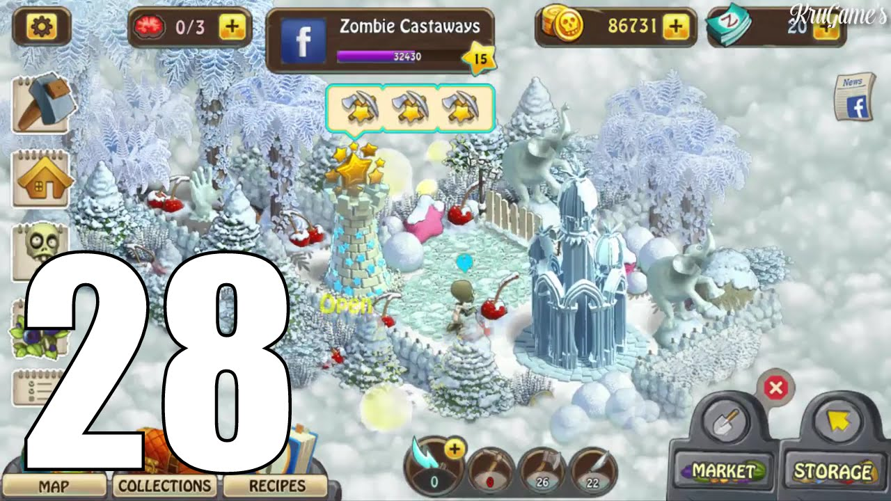 Zombie Castaways Android Gameplay #28 - Level 15 - Star Island