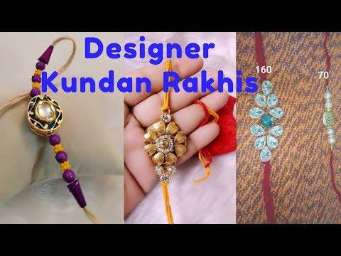 Raksha Bandhan | Handmade Beautiful Kundan Rakhi | Designer Rakhi Making for Rakhi Bandhon