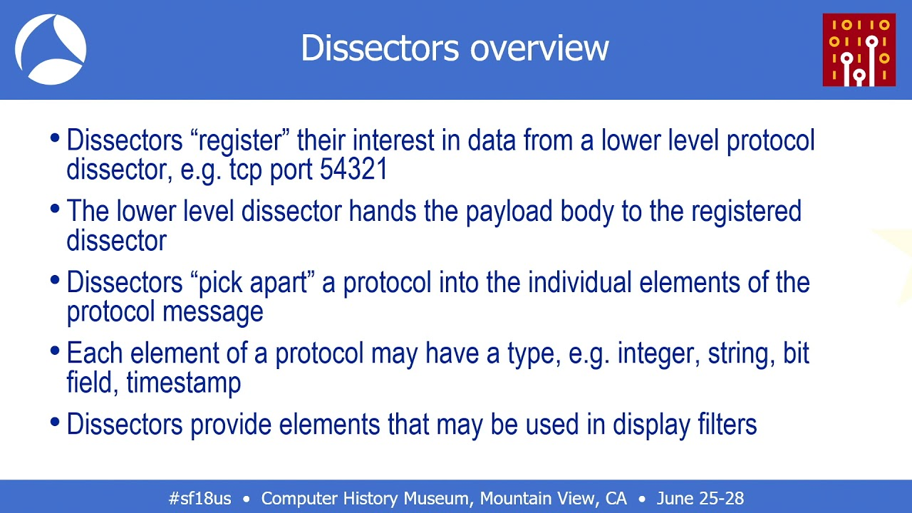 SF18US - 03: Writing a Wireshark Dissector (Graham Bloice)