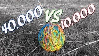 ЧТО БУДЕТ, еСЛИ ВЗОРВАТЬ  40.000 спичек внутри 10.000 резинок/ 40000 matches VS 10000 rubber band