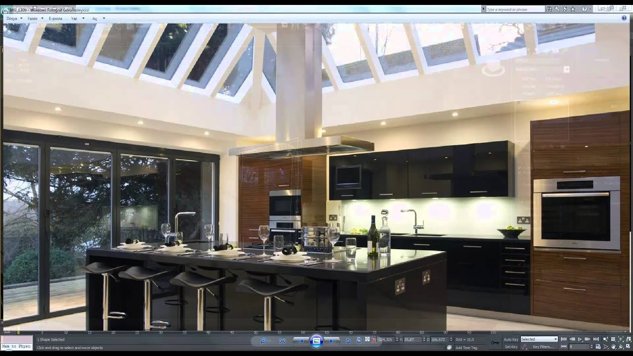 3ds max kitchen tutorial 5 of 8 youtube for Kitchen set 3ds max