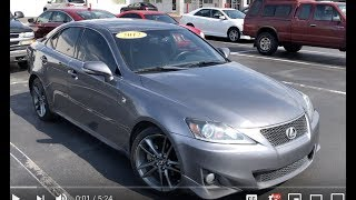 2012 Lexus IS250 F-Sport Full Tour & Start-up at Massey Toyota