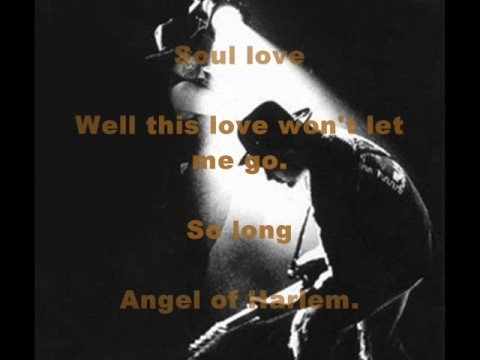 U2-Angel of Harlem - with Lyrics