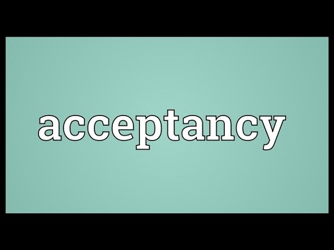 Header of acceptancy