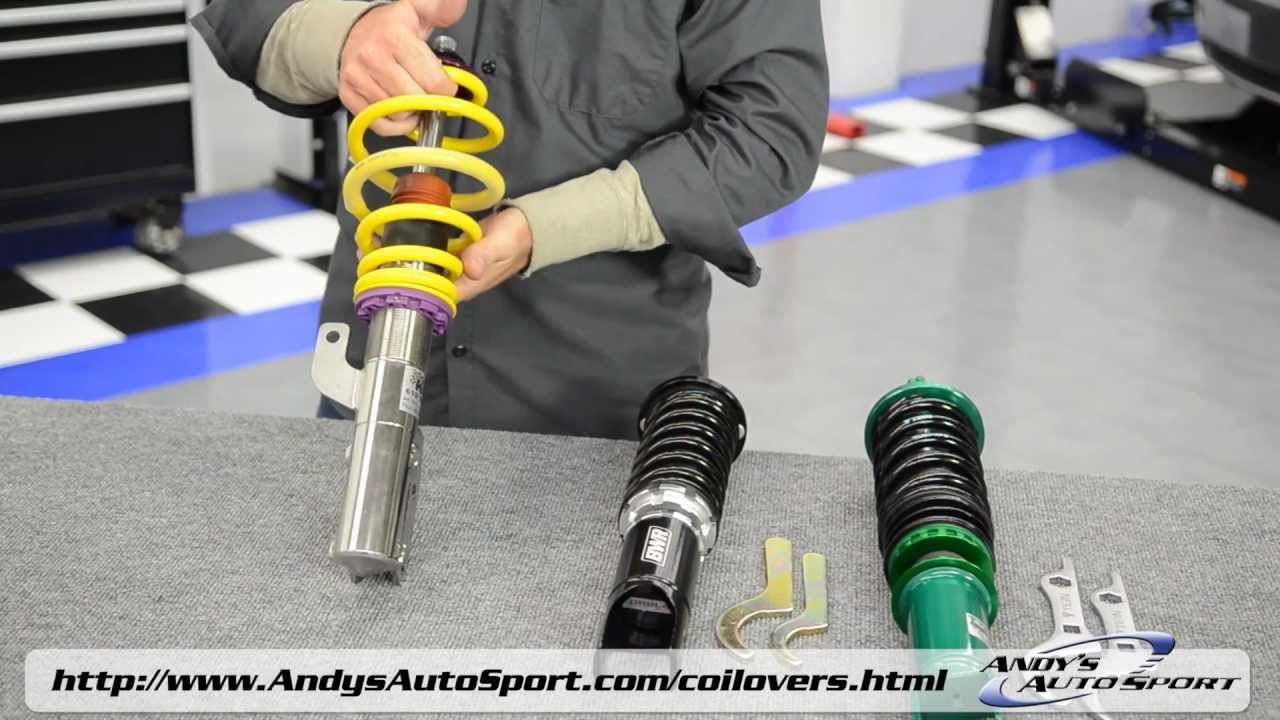 Lowering springs vs coilovers presented by andy s auto sport youtube