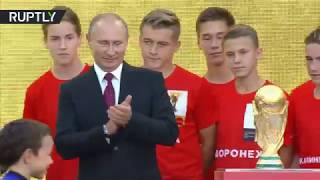 بالفيديو.. الرئيس الروسي يعلن انطلاق رحلة كأس العالم | الصباح العربي