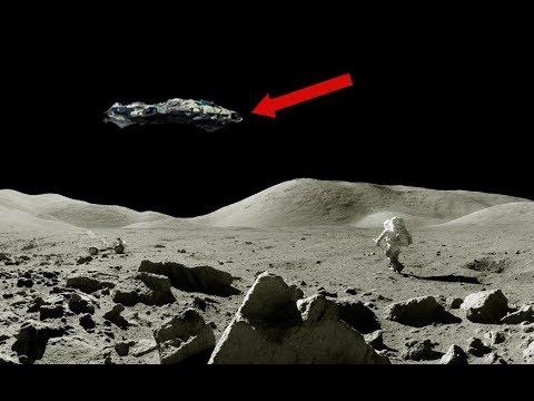 Астронавт признался что видел на Луне НЛО пришельцев