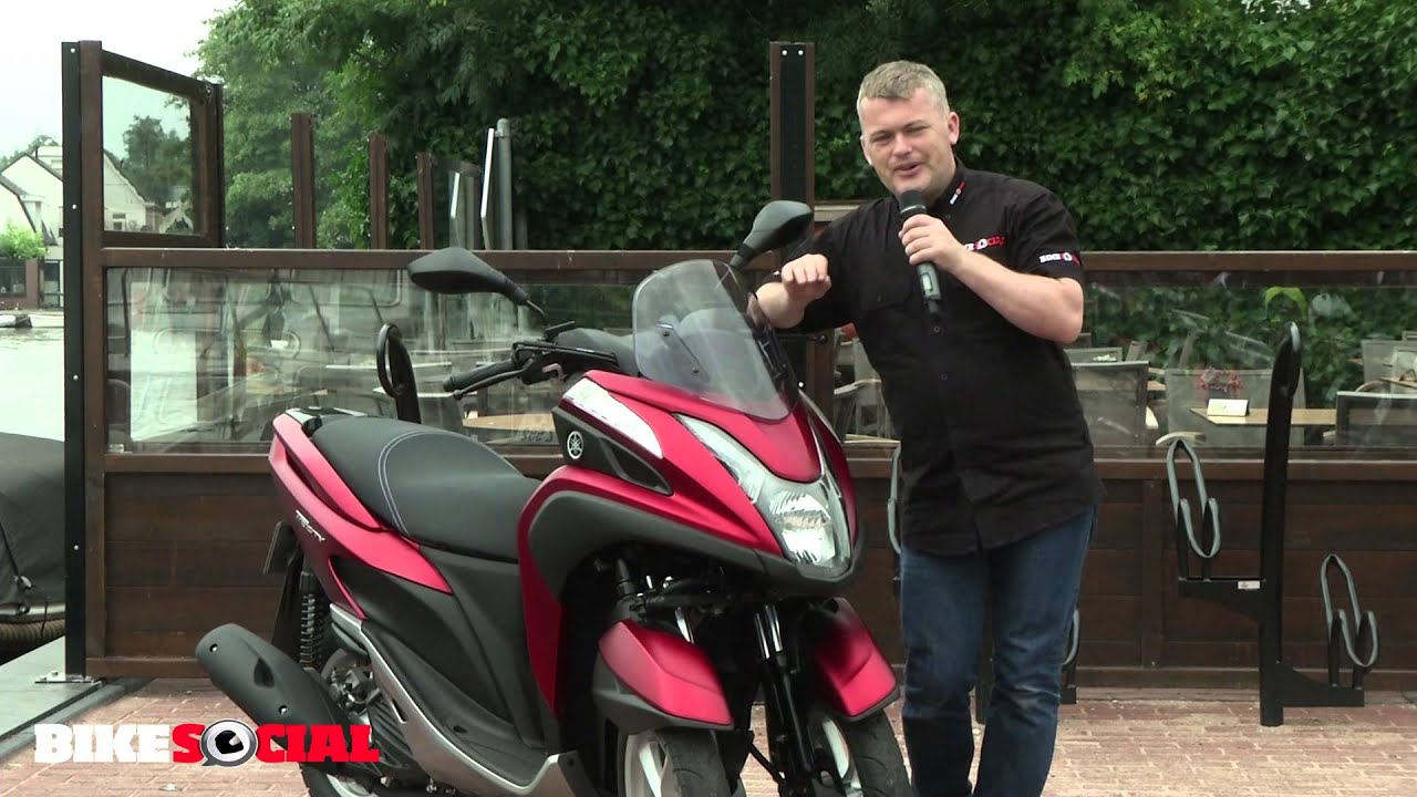 bike social tests the new yamaha tricity - youtube