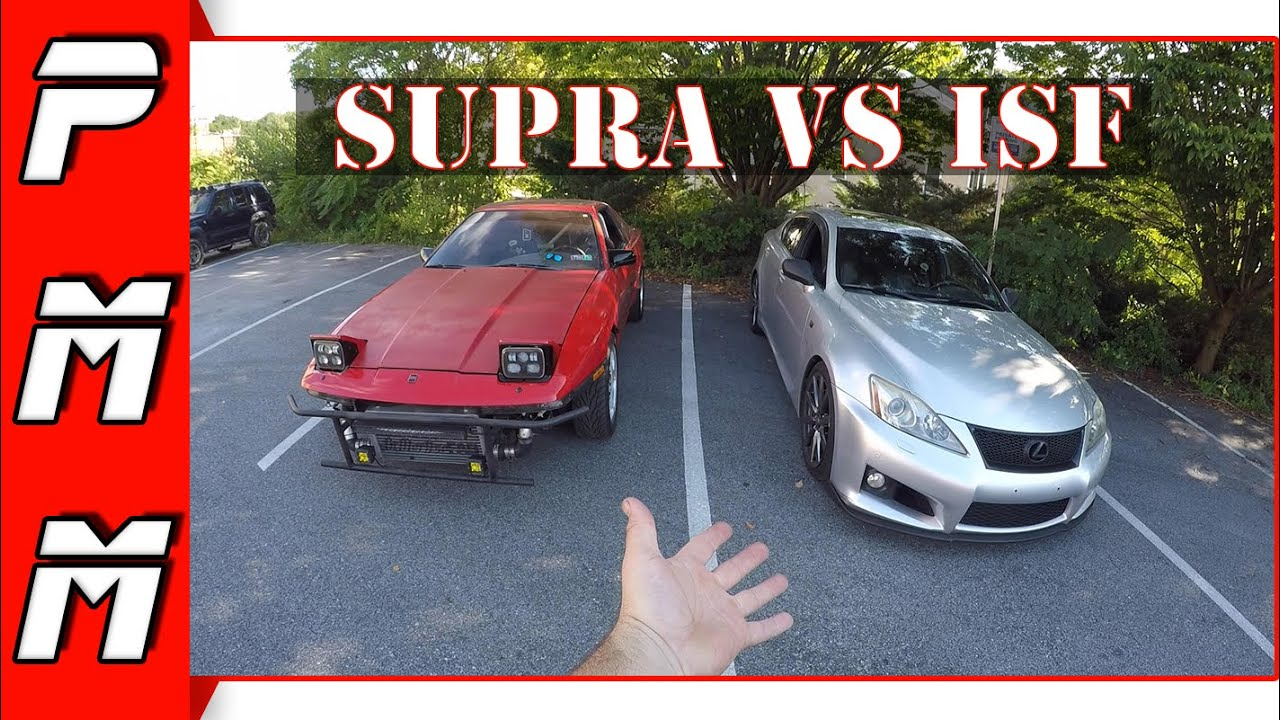 Lexus ISF vs Supra 1JZGTE Which one is faster?!