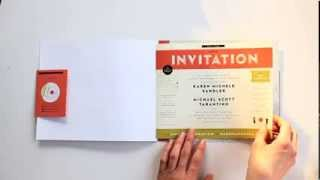 Paper Record Player - Creative Wedding Invitation