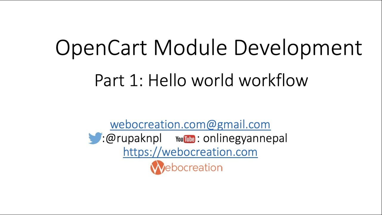 Opencart 3 custom module development tutorial