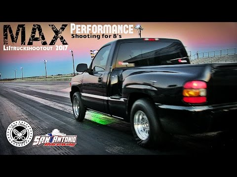 Max Performance LS1 Powered Drag Truck- Shooting for 8's