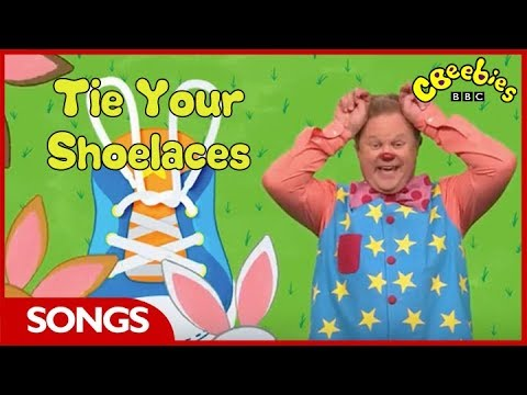 CBeebies Songs | Something Special | Mr Tumble's Song Time Tie Your Shoelaces