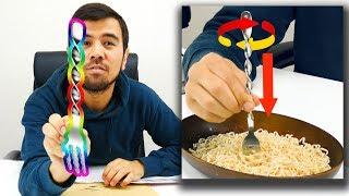 Oddly Satisfying Fork | Spiral Spaghetti Utensil Unboxing