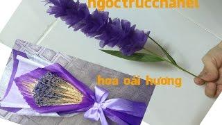 làm hoa oải hương bằng giấy lụa || cách làm hoa bằng giấy ngoctrucchannel
