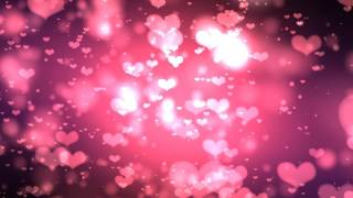 4K 10:00min. Red Purple Glowing Hearts 2160p Lovers Motion Background AA VFX