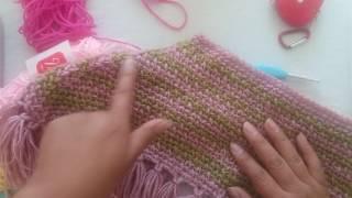 Poncho a crochet para niña de 4 años